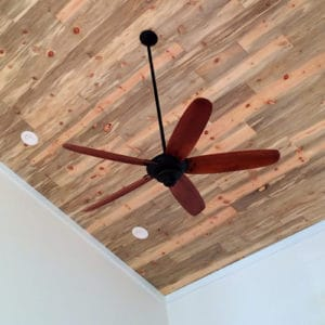Wood Ceiling & Wall Planks - T&G Shiplap - Smooth - Beetle Kill Pine - Installed (3)