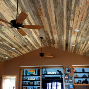 Wood Ceiling & Wall Planks - T&G Shiplap - Smooth - Beetle Kill Pine - Installed (4)