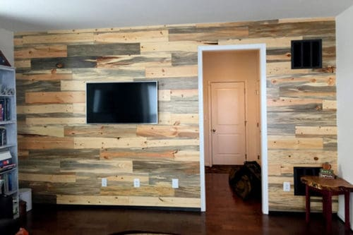 Wood Ceiling & Wall Planks - T&G Shiplap - Smooth - Beetle Kill Pine - Installed (8)