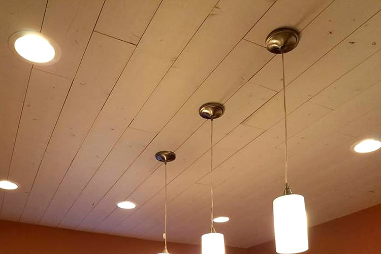 Wood Ceiling & Wall Planks - T&G Shiplap - Smooth - Farmhouse - Installed (1)
