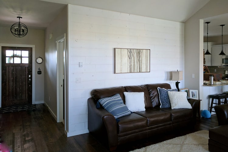 Wood Ceiling & Wall Planks - T&G Shiplap - Smooth - Farmhouse - Installed (2)