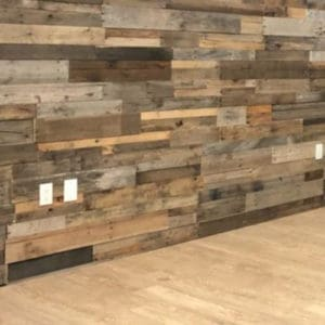 Wood Ceiling & Wall Planks - Pre-Fab Pallet Wood Panels - Installed (11)