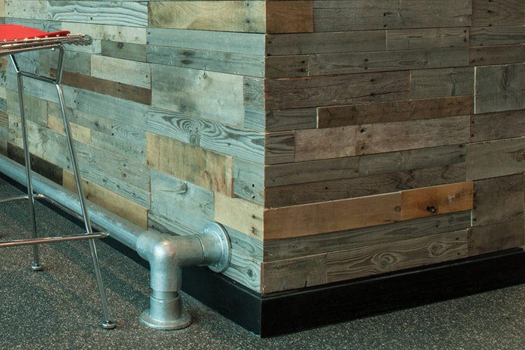 Wood Ceiling & Wall Planks - Pre-Fab Pallet Wood Panels - Installed (2)
