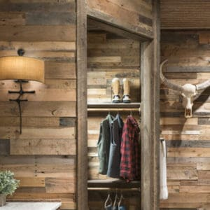 Wood Ceiling & Wall Planks - Pre-Fab Pallet Wood Panels - Installed (3)
