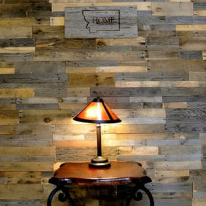 Wood Ceiling & Wall Planks - Pre-Fab Pallet Wood Panels - Installed (8)