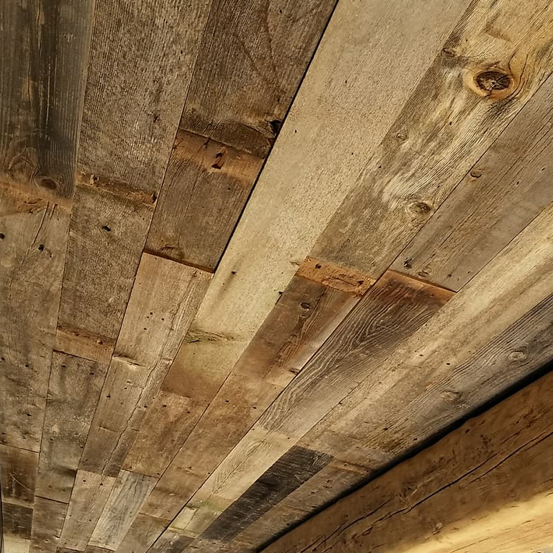 Wood Ceiling & Wall Planks - Reclaimed Wind Fence 3