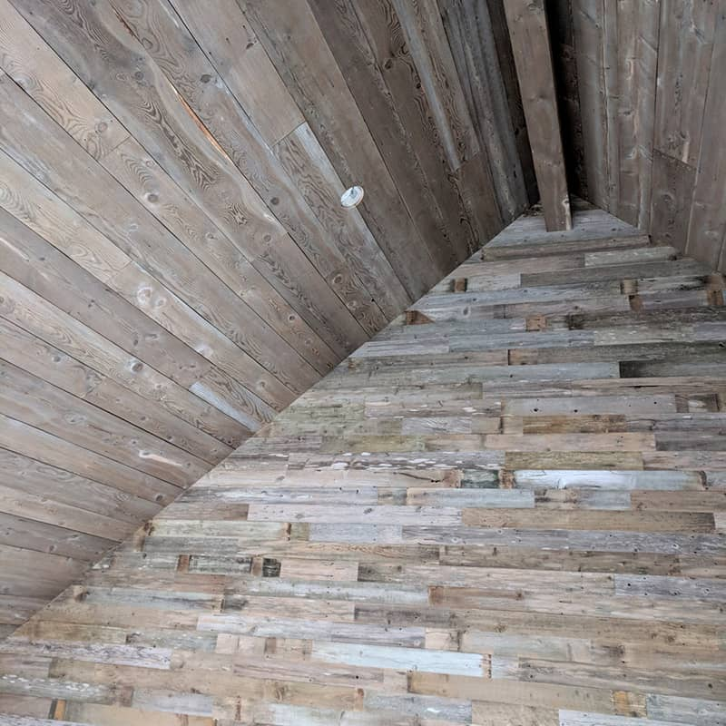 Wood Ceiling & Wall Planks - Reclaimed Wind Fence 6