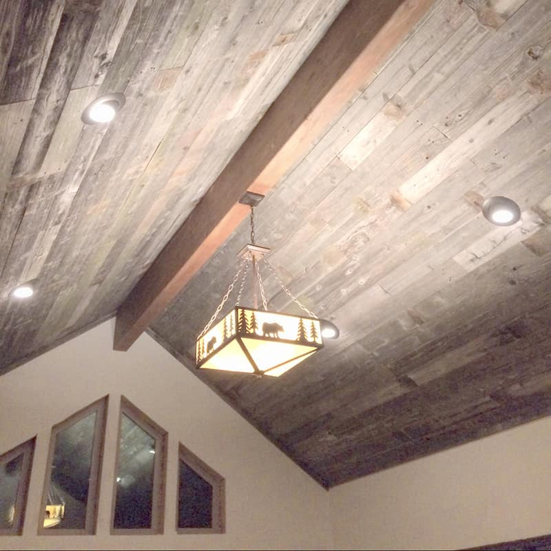 Wood Ceiling & Wall Planks - Reclaimed Wind Fence 7