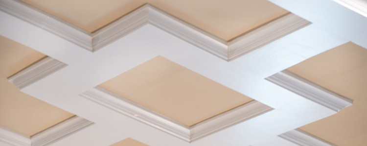 Shallow Faux Beam Coffered Ceiling Kit