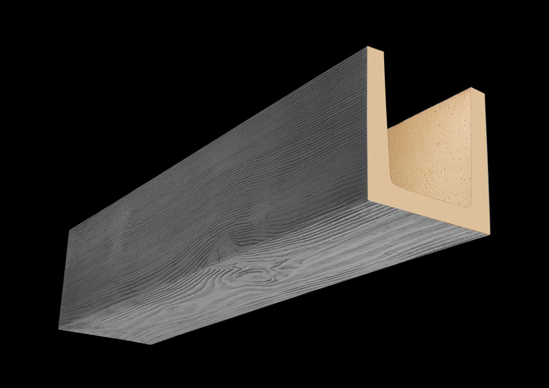 Faux Wood Ceiling Beam 3SBM - Douglas Fir - Gray (1b)