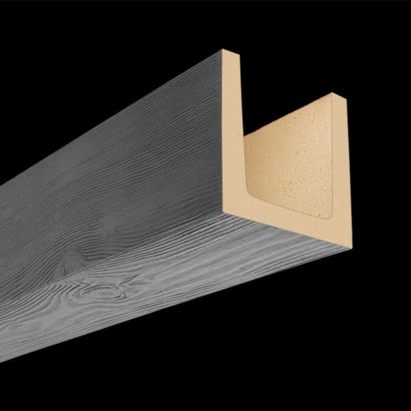 Faux Wood Ceiling Beam Molded - Douglas Fir - Gray (2b)