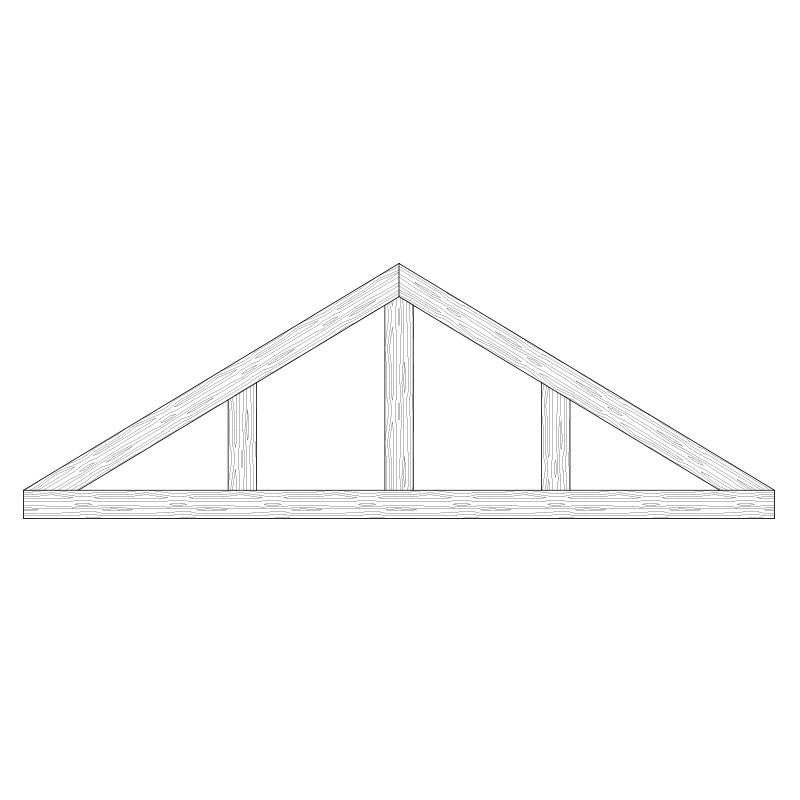 Faux Wood Ceiling Beam Truss - E1-CC-D03(a)