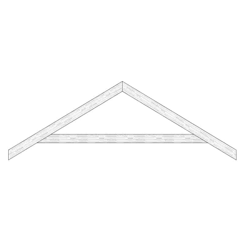 Faux Wood Ceiling Beam Truss - E1-RC-D00a