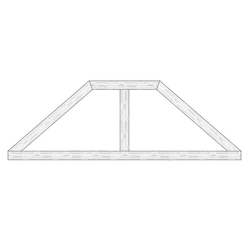 Faux Wood Ceiling Beam Truss - E2-CC-D01(a)