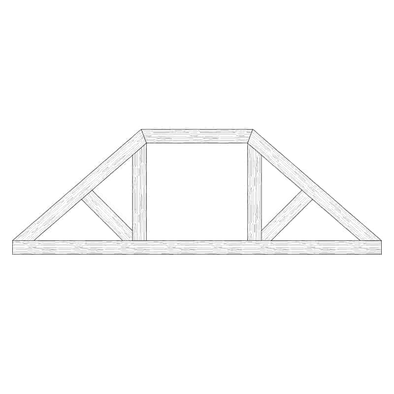 Faux Wood Ceiling Beam Truss - E2-CC-D02(b)