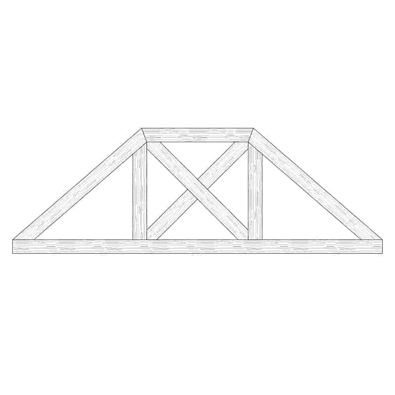 Faux Wood Ceiling Beam Truss - E2-CC-D02(c)