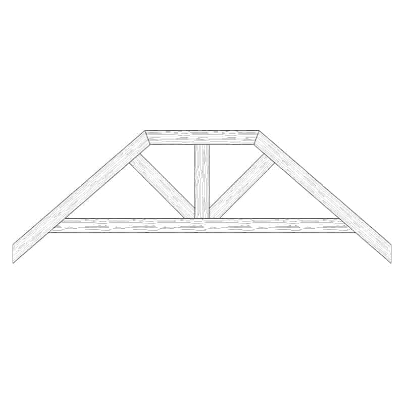 Faux Wood Ceiling Beam Truss - E2-RC-D01(b)