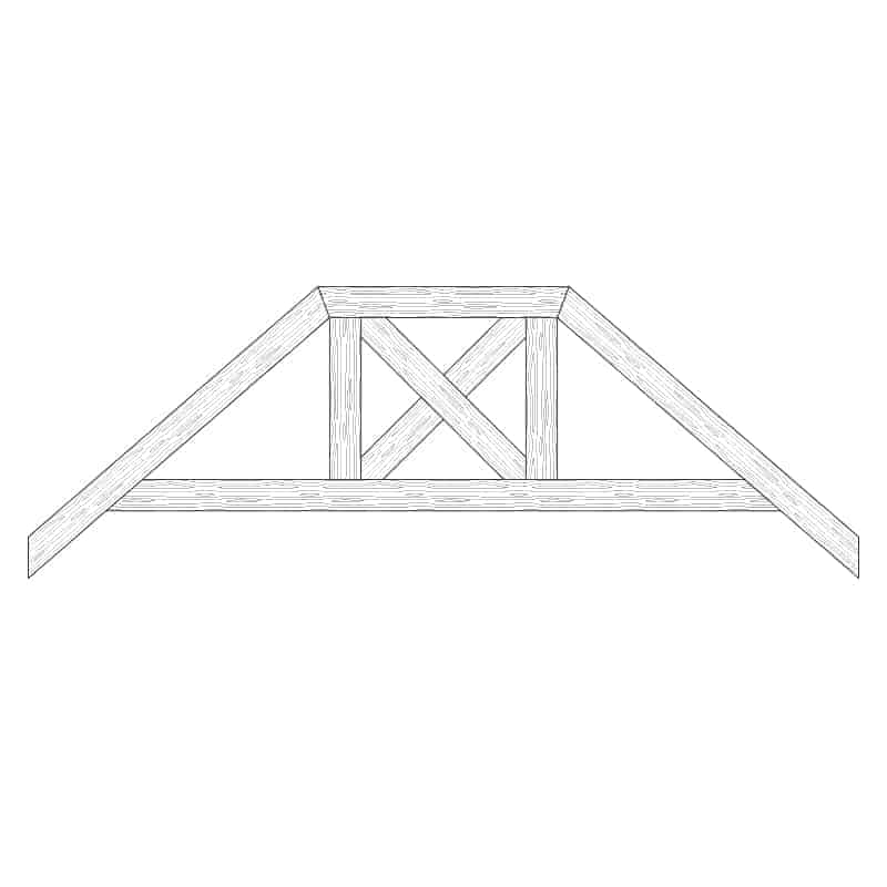 Faux Wood Ceiling Beam Truss - E2-RC-D02(c)