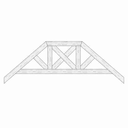TCC - Faux Wood Ceiling Beam Truss - E2-RC-D03(d)