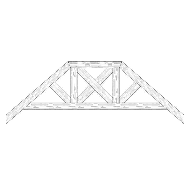 Faux Wood Ceiling Beam Truss - E2-RC-D02(d)