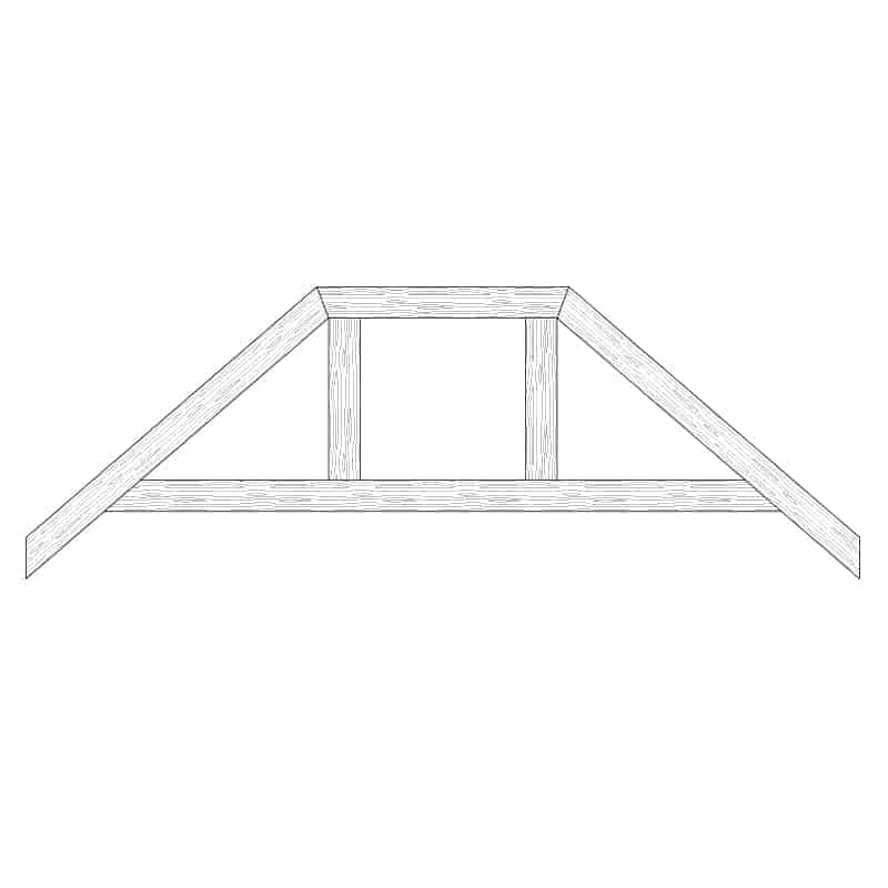 Faux Wood Ceiling Beam Truss - E2-RC-D02(a)