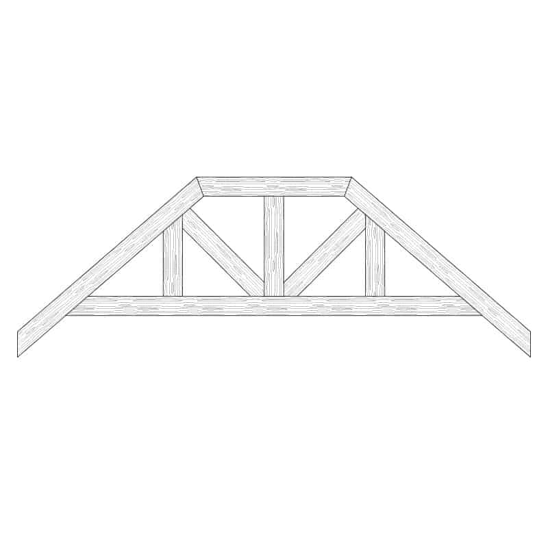 TCC - Faux Wood Ceiling Beam Truss - E2-RC-D02(c)
