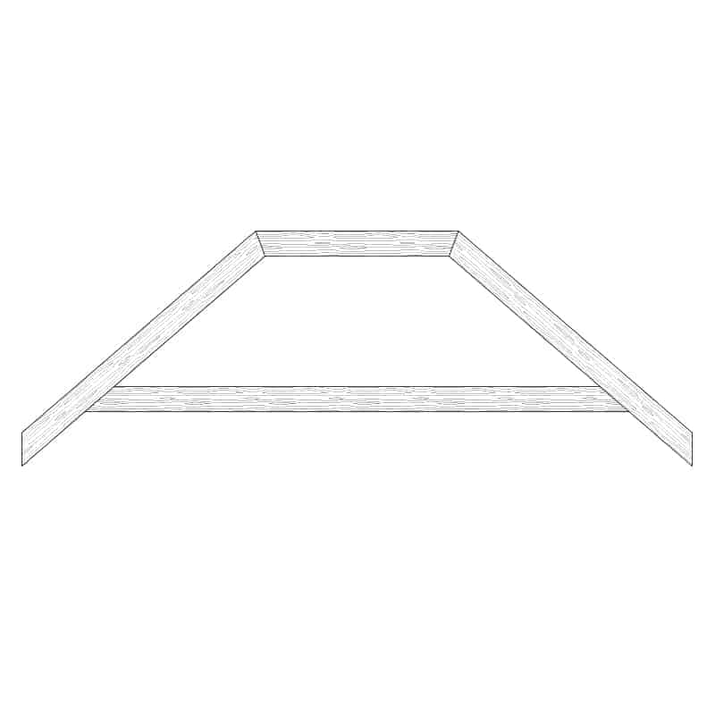Faux Wood Ceiling Beam Truss - E2-RC-D00(a)