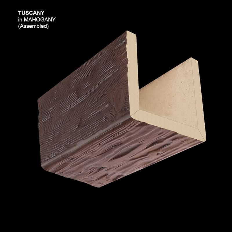 Faux Wood Ceiling Beam Sample - Tuscany - Mahogany - Assembled Basic