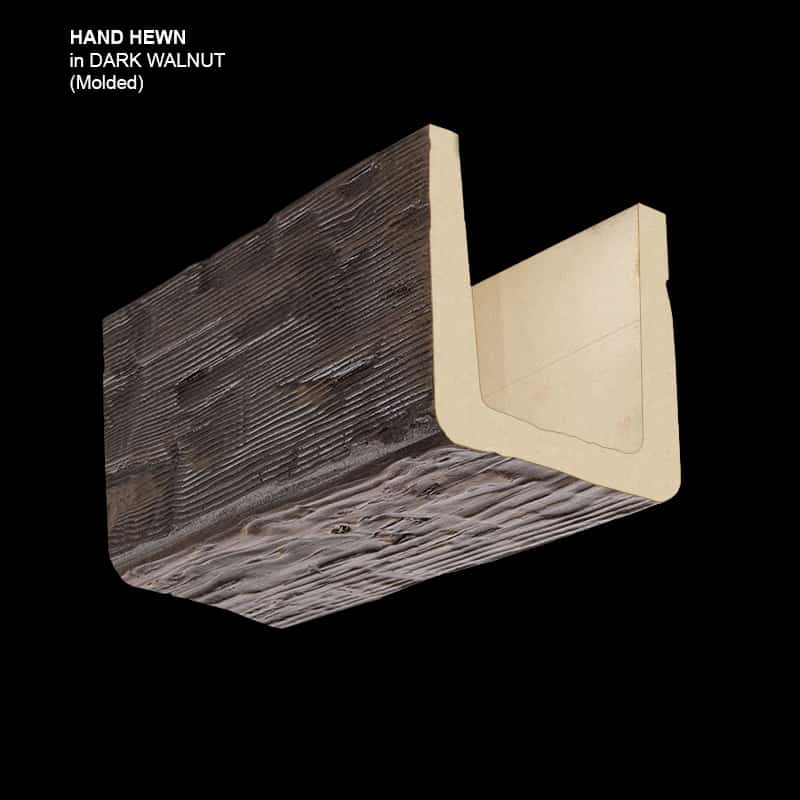 Faux Wood Ceiling Beam Sample - Dark Walnut - Espresso - Molded Basic