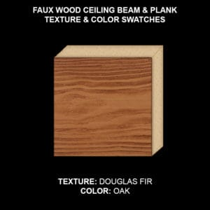 Faux Wood Ceiling Beam Swatch - Douglas Fir in Oak
