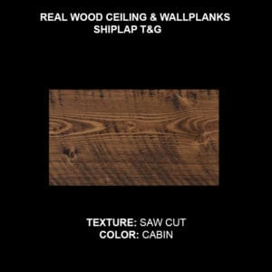 Shiplap T&G Wood Ceiling & Wall Planks - Sample Saw Cut Cabin