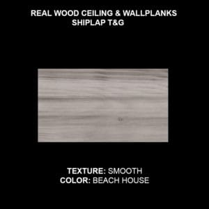 Wood Ceiling & Wall Planks - T&G Shiplap - Smooth - Beach House (Sample)