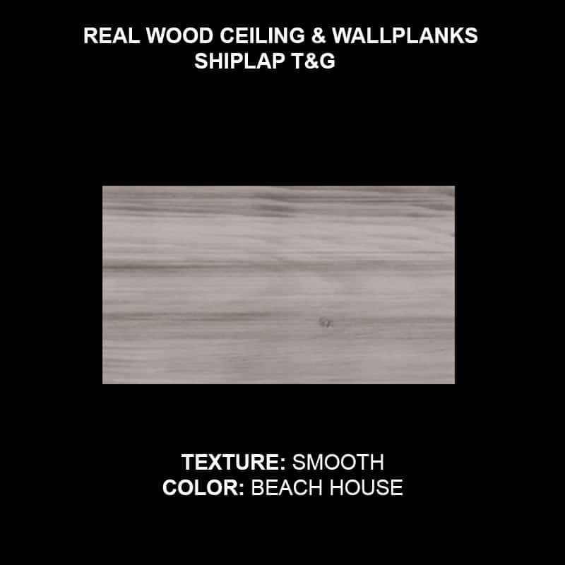 Shiplap T&G Wood Ceiling & Wall Planks - Sample Smooth Beach House