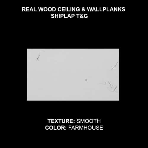 Wood Ceiling & Wall Planks - T&G Shiplap - Smooth - Farmhouse (Sample)
