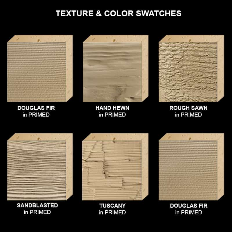Faux Wood Ceiling Beam Texture & Color Sample Kit ALL Primed