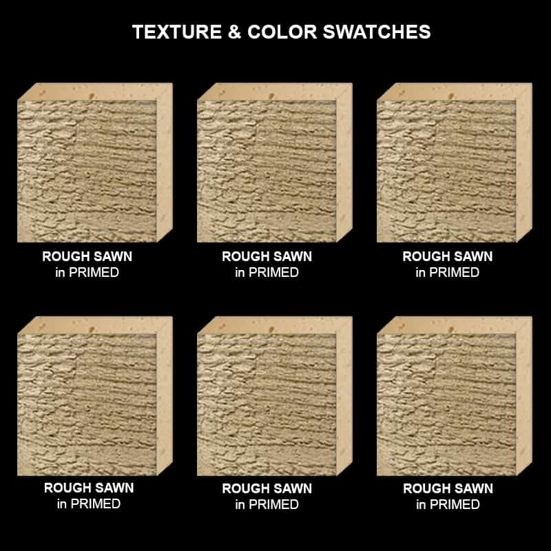 Faux Wood Ceiling Beam Texture & Color Sample Kit ROUGH SAWN Primed