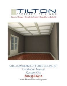 coffered ceiling install