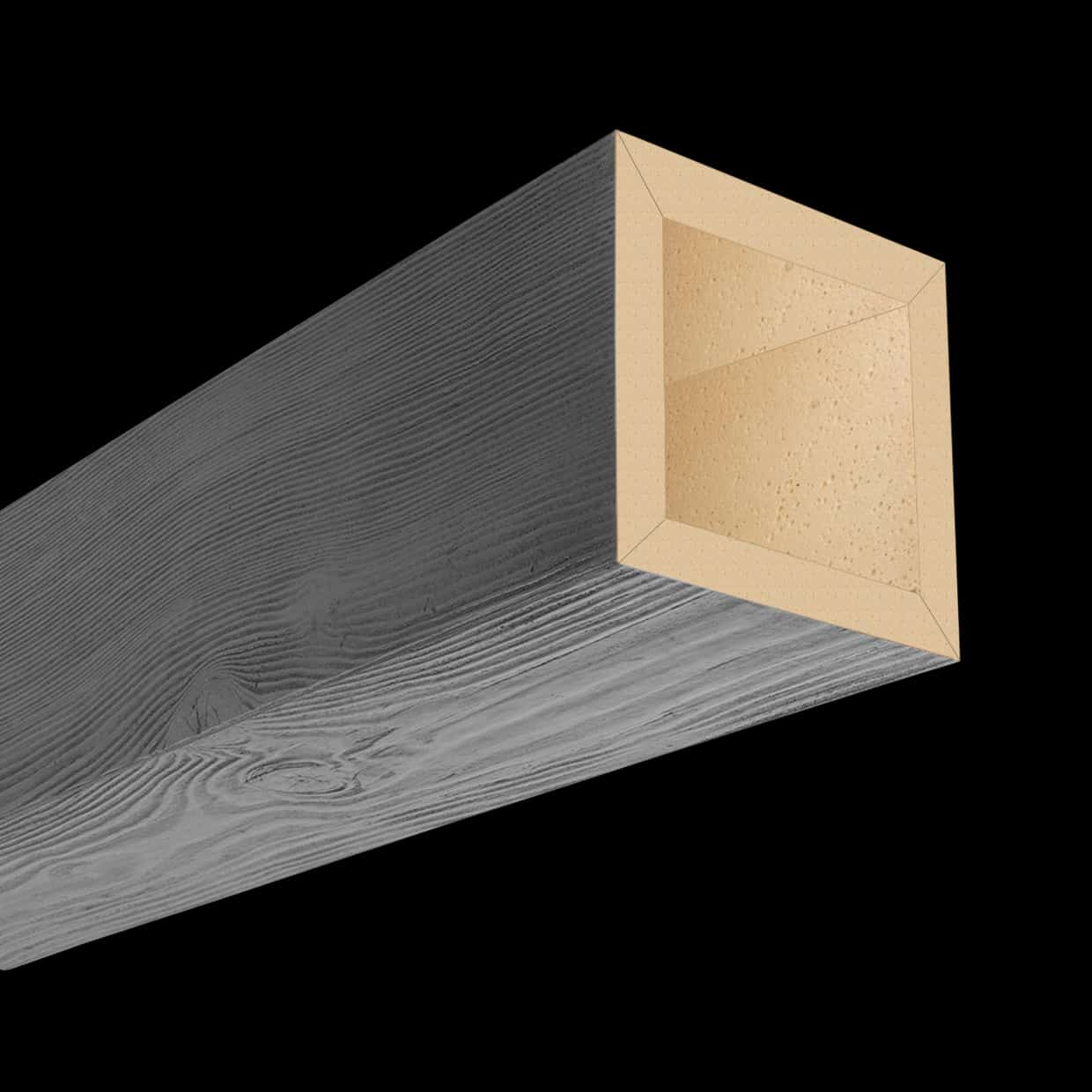 Faux Wood Ceiling Beam 4SBA - Douglas Fir - Gray