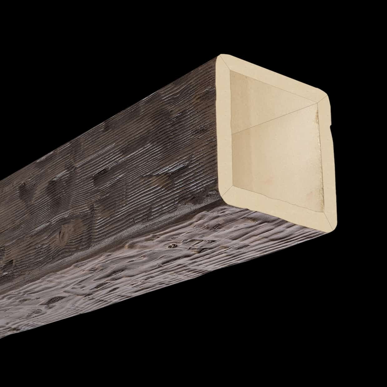 Faux Wood Ceiling Beam 4SBA - Hand Hewn - Dark Walnut