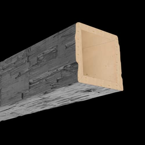 Faux Wood Ceiling Beam 4SBA - Hand Hewn - Gray