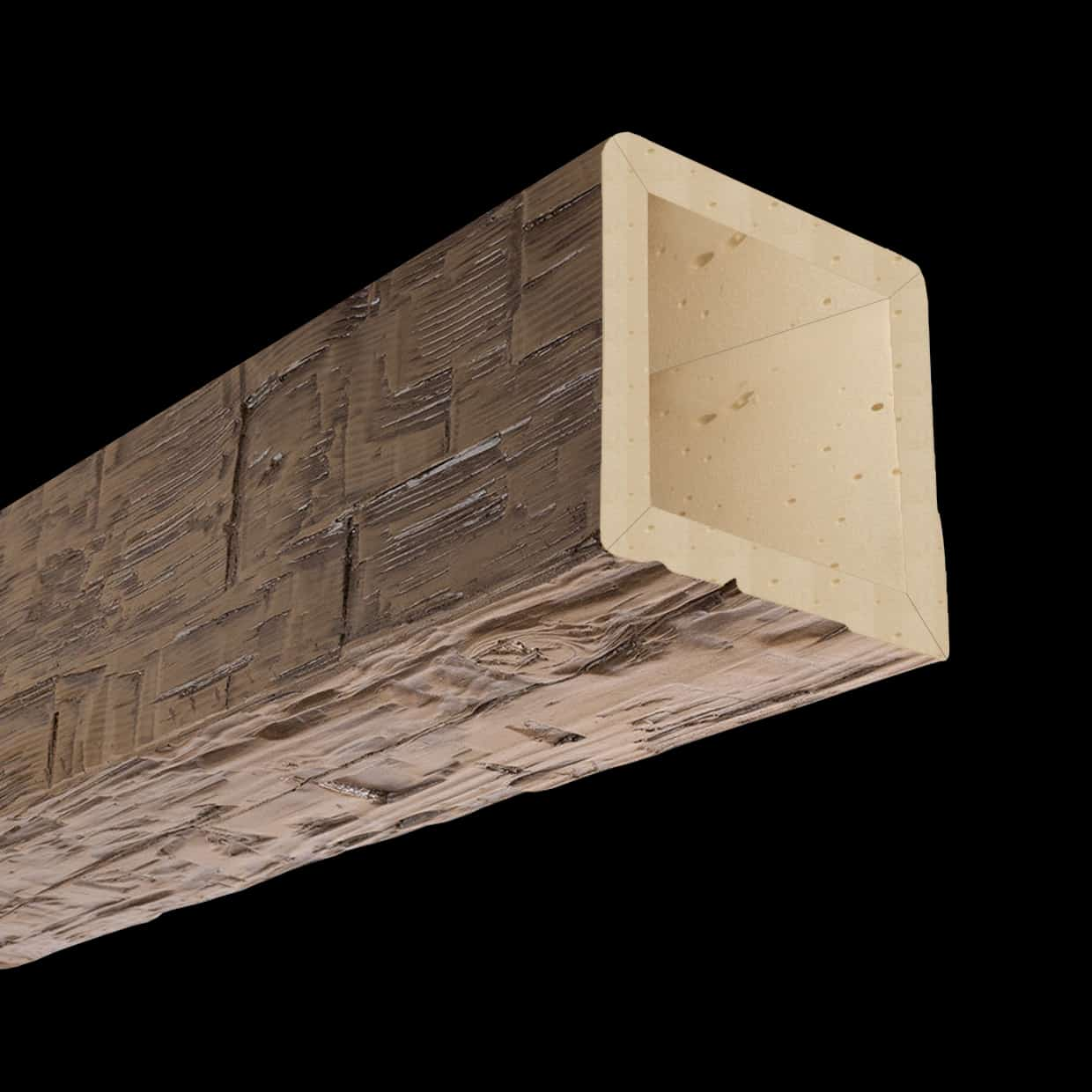 Faux Wood Ceiling Beam 4SBA - Hand Hewn - Light Walnut