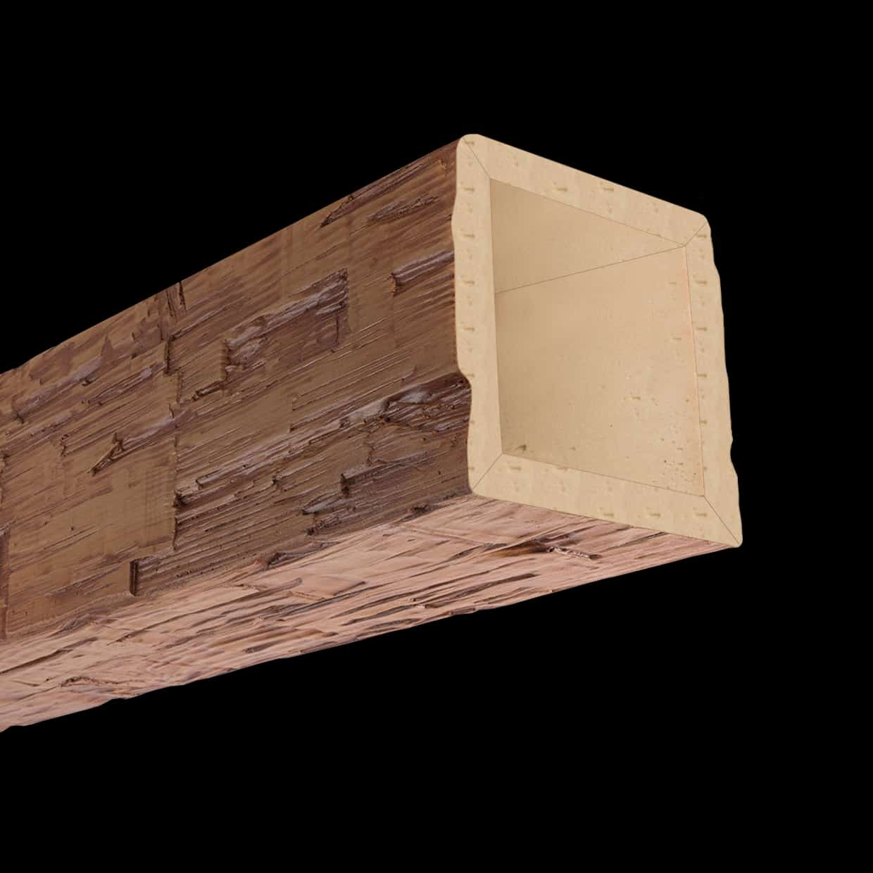 Faux Wood Ceiling Beam 4SBA - Hand Hewn - Oak