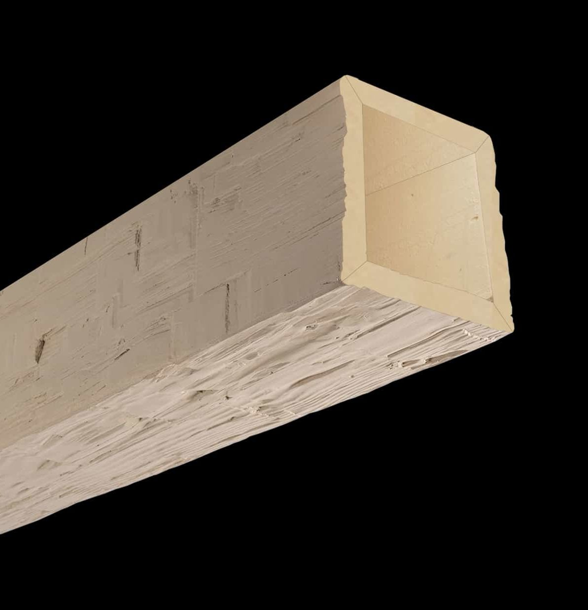 Faux Wood Ceiling Beam 4SBA - Hand Hewn - Primed
