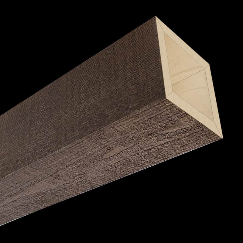 Faux Wood Ceiling Beam 4SBA - Rough Sawn - Dark Walnut
