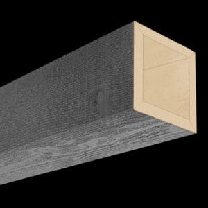 Faux Wood Ceiling Beams - Assembled Series - Rough Sawn - Gray