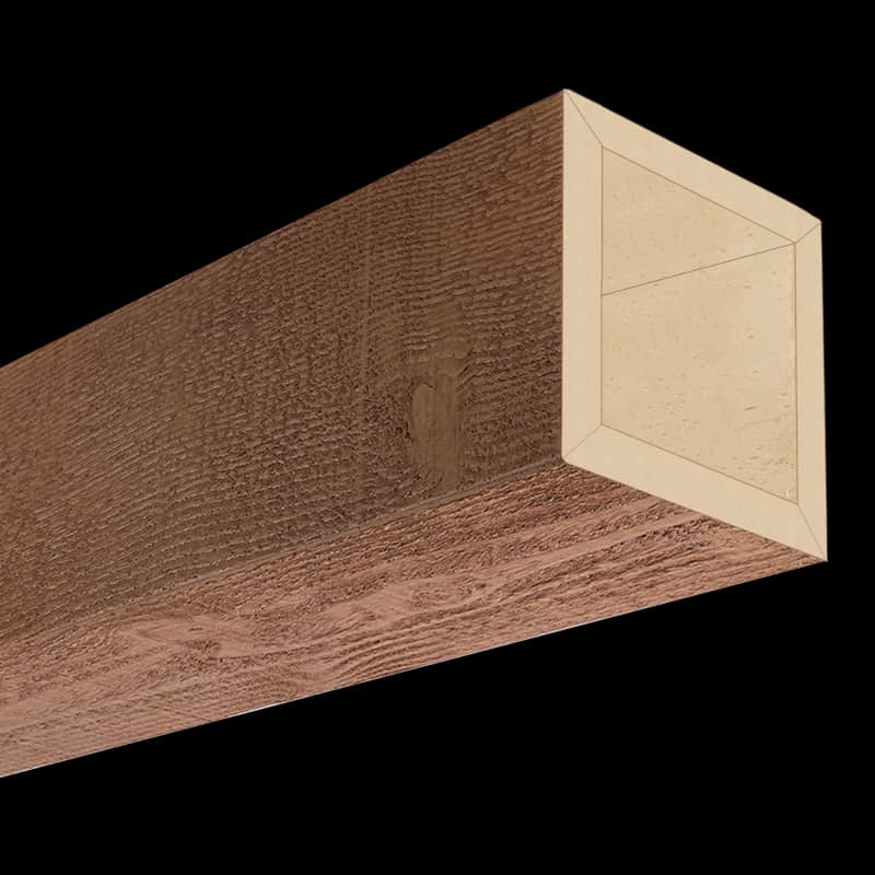 Faux Wood Ceiling Beam 4SBA - Rough Sawn - Oak