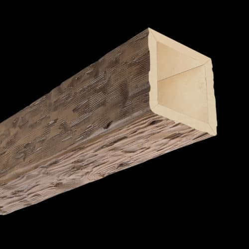 Faux Wood Ceiling Beam 4SBA - Tuscany - Light Walnut