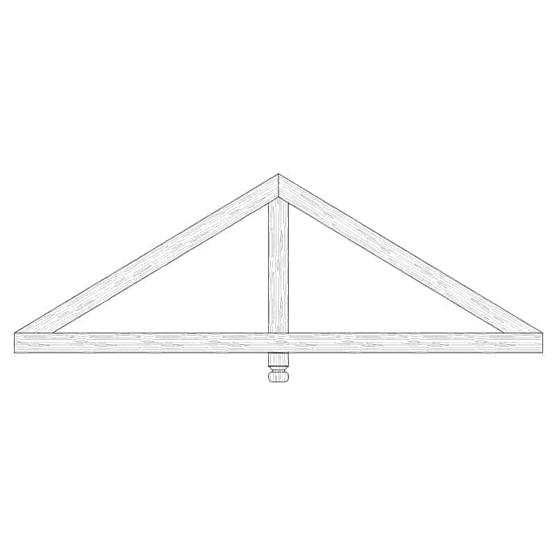 Faux Wood Ceiling Beam Truss - E1-CC-D01(a)-1F
