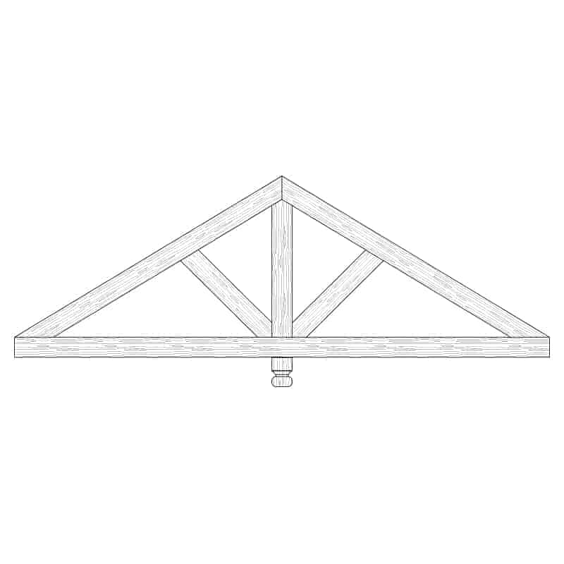 Faux Wood Ceiling Beam Truss - E1-CC-D01(b)-1F