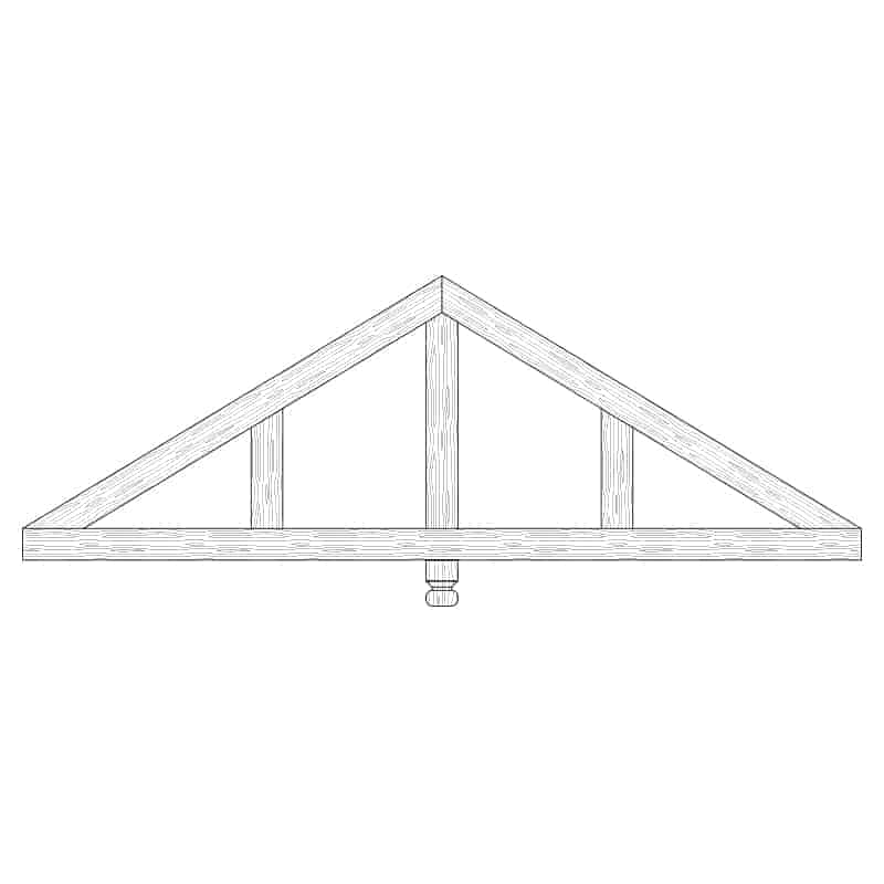 Faux Wood Ceiling Beam Truss - E1-CC-D03(a)-1F